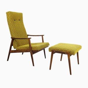 Sessel mit Hocker von Ton