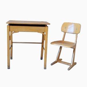 Stuhl und Kinderschreibtisch, 2er Set