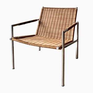 Rattan SZ01 Armlehnstuhl von Martin Visser für T Spectrum, 1960er