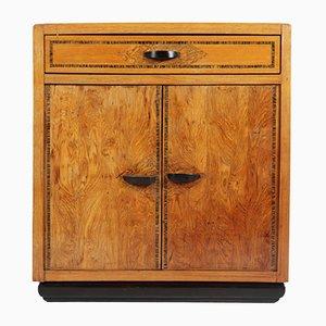 Antique Italian Olive Wood Cabinet