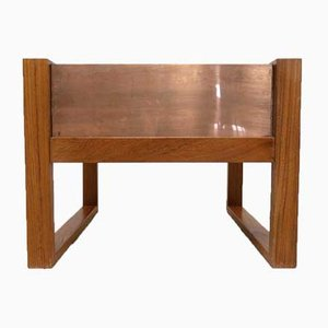 Danish Teak Indoor Planter in Copper, 1960s