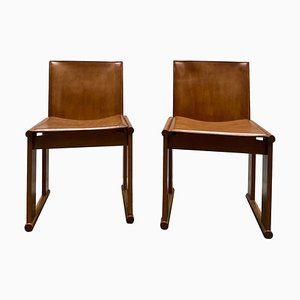 Monk Chairs by Afra & Tobia Scarpa for Molteni, Italy, 1970s, Set of 2
