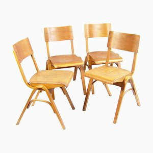 Chairs by Ludwig Volák, Zbynek Hřivnáč & Jan Bočan for Ton, Set of 4