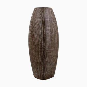 Glasierte Mid-Century Vase aus Steingut von Ingrid Atterberg für Upsala-Ekeby