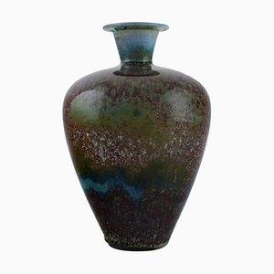 Vase aus Glasiertem Steingut von Berndt Friberg 1899-1981 für Gustavsberg Studiohandarbeiter