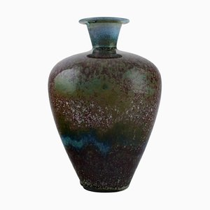 Vase in Glazed Stoneware by Berndt Friberg 1899-1981 for Gustavsberg Studiohand