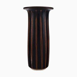 Vase aus glasierter Keramik von Stig Lindberg für Gustavsberg Studiohandmesser, Mitte 20. Jahrhundert