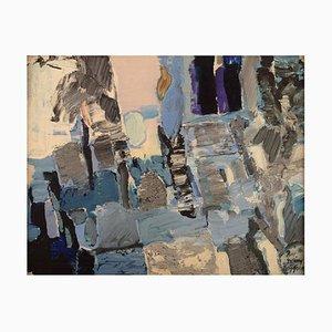 Rolf Erling Nygren, Schweden, Oil on Board, Abstrakte Komposition, 1960er
