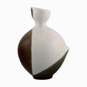 Dent Vase aus glasiertem Steingut von Gabi Lemon-Tengborg für Gustavsberg