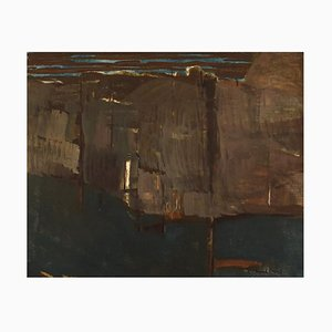 Per Thorlin B., 1923 , Norway, Oil on Canvas, Abstract Landscape, 1960s