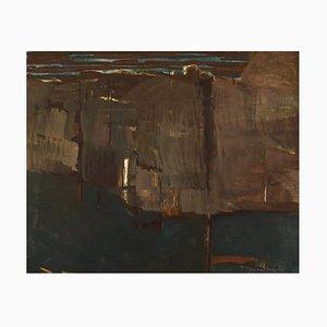 Per Thorlin B., 1923, Norway, óleo sobre lienzo, paisaje abstracto, años 60