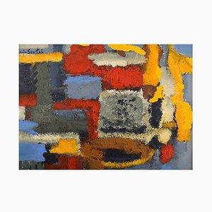 Lucja Szostak Poland, Oil on Board, Abstract Composition, 1980s