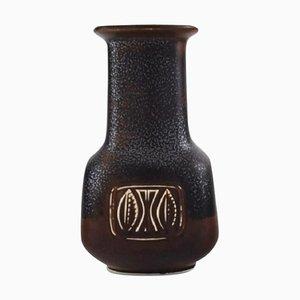 Vase aus glasiertem Steingut von Gunnar Nylund für Rörstrand, Mitte des 20. Jahrhunderts