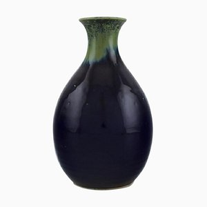 Vase in Glazed Ceramics by Carl Harry Stålhane for Designhuset, 1970s
