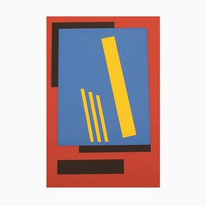 Bengt Orup, Sweden, Color Lithography, Abstract Geometric Composition