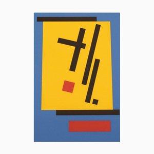 Bengt Orup, Schweden, Farblithographie, Abstrakte Geometrische Komposition