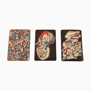 Jean Dubuffet, Serigraph, Bank of the Hourloupe 3 Playing Cards