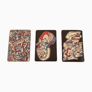 Jean Dubuffet, Serigraphie, Bank der Stundenkarte 3 Spielkarten