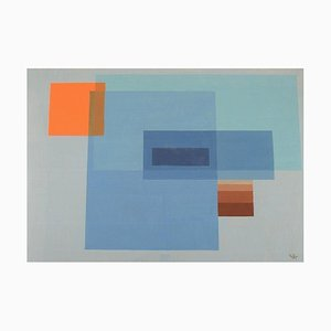 Cai, Unknown Artist, Watercolor on Paper, Abstract Composition, 1971