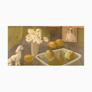 Bengt Carlberg, Sweden, Pastel on Paper, Modernist Still Life