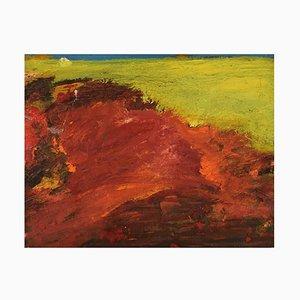 Willard Lindh, Sweden, Oil on Canvas, Modernist Landscape, 1960s