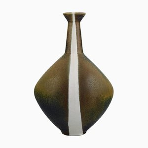 Dent Vase in Glazed Stoneware by Gabi Lemon-Tengborg for Gustavsberg