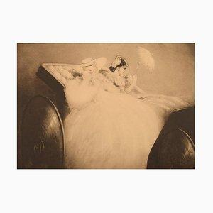 Louis Icart, Radierung auf Papier, Zwei junge Frauen, 1920er