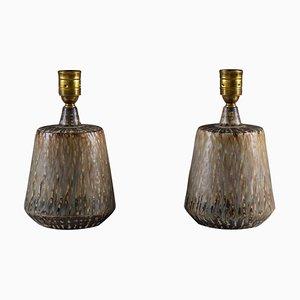 Schwedische Mid-Century Rubus Tischlampen aus Keramik von Gunnar Nylund für Rörstrand, 2er Set