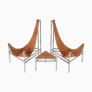 Scandinavian Inka Lounge Chairs by Christina and Lars Andersson, 1980s, Set of 2