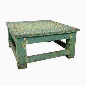 Mesa de centro industrial con base de madera