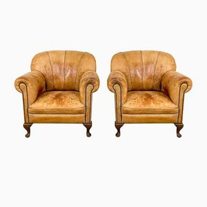 Sheep Leather Armchairs, Set of 2