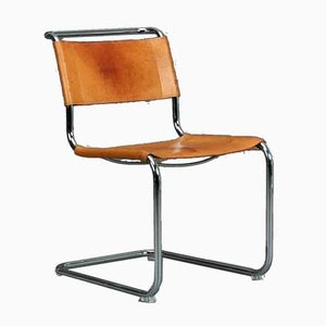 Thonet S33 Leather Cognac Chair