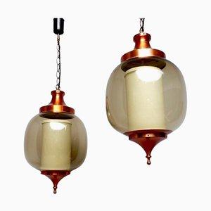 Lámparas colgantes Lumiere colgantes, años 60. Juego de 2