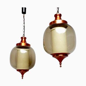 Lumiere Pendant Hanging Lights, 1960s, Set of 2