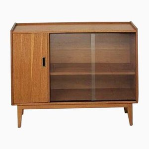 Mid-Century Glass Fronted Compact Sideboard