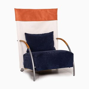 Habit Blue Cream Fabric Armchair from Ligne Roset