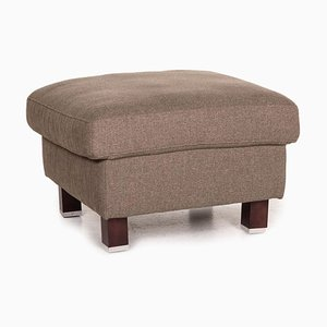 Gray and Brown Fabric Stool by Ewald Schillig