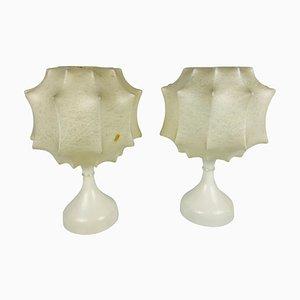 Lámparas de mesa Cocoon, años 60. Juego de 2