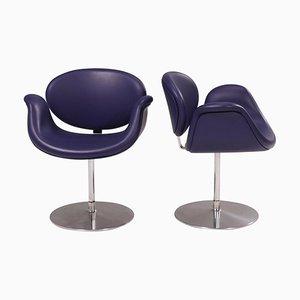 Purple Little Tulip Swivel Chairs by Pierre Paulin for Artifort, Set of 2