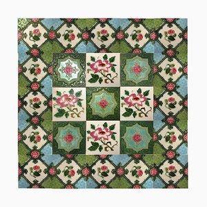 Mix of 25 Glazed Relief Tiles from S. A. Produits Ceramiques De La Dyle, 1930s