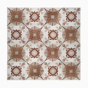 60 Antique Tiles from Hemiksem, 1920s, Belgium