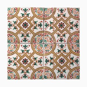 Ceramic Tiles with Fisch by Onda, Spain, 1900s, Set of 40