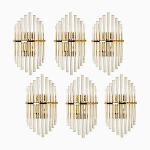 Modern Glass Rod Wall Sconce by Gaetano Sciolari for Lightolier