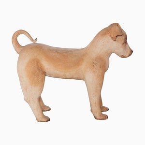 Ceramic Lifesize Wagging Dog, 1980s, Belgium