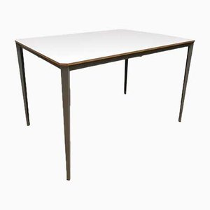 Vintage Dutch Industrial Desk by Wim Rietveld for Ahrend De Cirkel