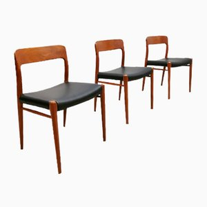 Mid-Century Dining Chairs by Niels O. Møller for J.L. Møller Møbelfabrik, Set of 3