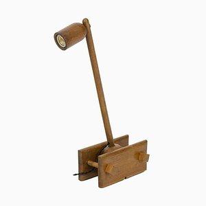 Articulated Lamp in Oak, 1960s