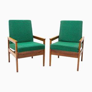 Mid-Century Armlehnstühle im Dänischen Stil, 1960er, 2er Set