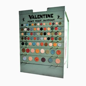 Industrial French Paint Cabinet from Valentine, 1960