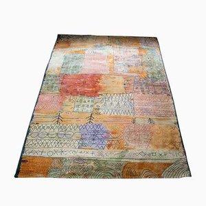 Tappeto grande vintage di Paul Klee